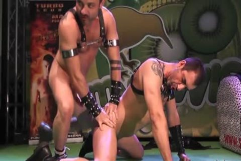 homosexual Pornstars hammering On Stage At FEDA 2014
