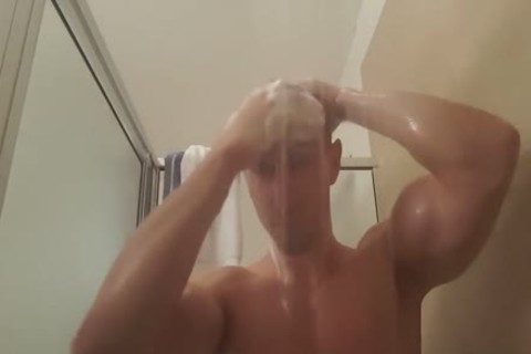 boy Plays With wazoo In Shower