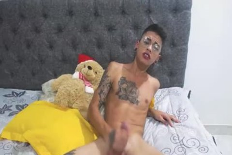 lusty Latino twink Cums And Plays With His butthole
