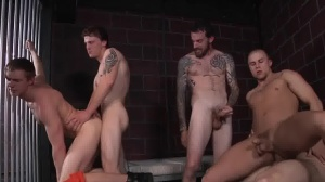 Barebacked In Prison - Masturbation Love