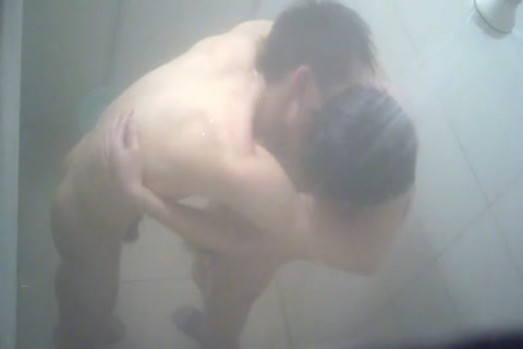 Shower gay men kiss video