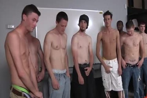 Gigantic bare bukkake party for lusty dyde bukkake boys