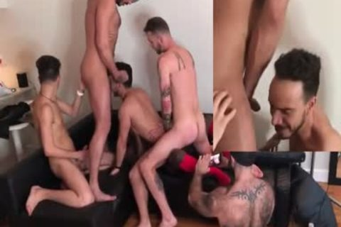 Eight dude bare fuckfest