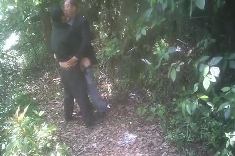 older oriental men enjoy It In The Forest