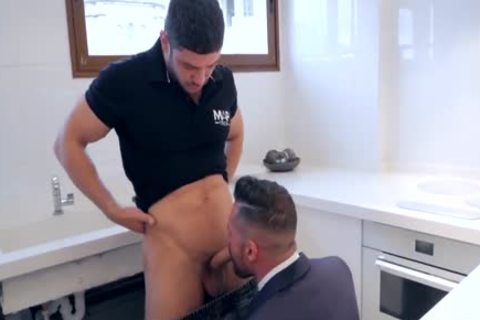 acquire His a-hole pounded By Plumber