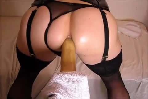plowing My wazoo With A fake penis while In lingerie