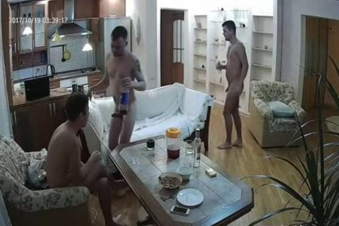 sexy Voyeur homosexual 3some With a lot of blowjob sex