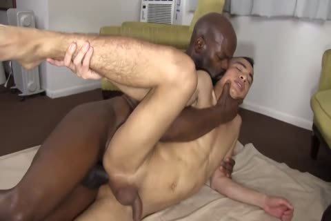 black Daddy Chokes A chap With His ramrod