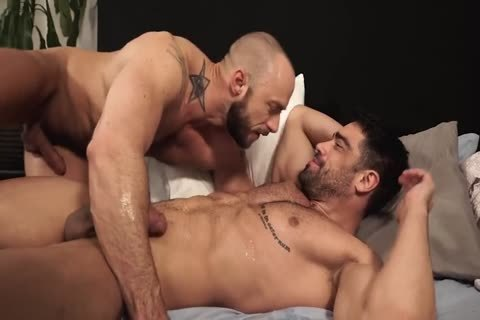 While licking jock pounded in trio bisexual have