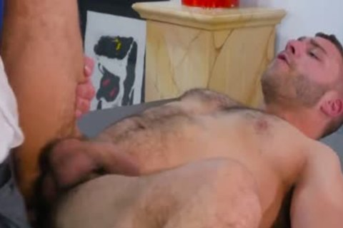 Hunter page plowed at first homosexual porn try out