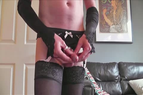 FF And Lacetop stockings Suspenders panties Pose Play & cum