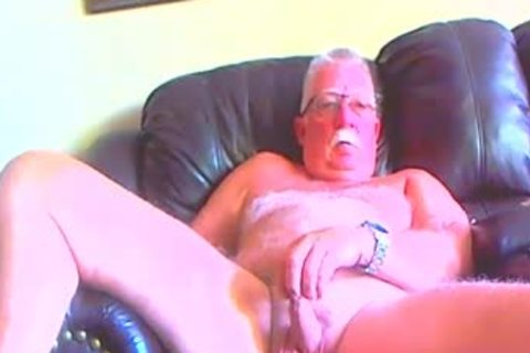 naked daddy man spreading His Legs Apart