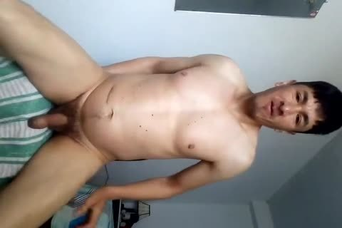 shoving Out His wazoo After Masturbating