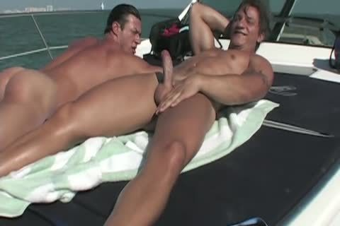 Angelo And Javier On A Boat