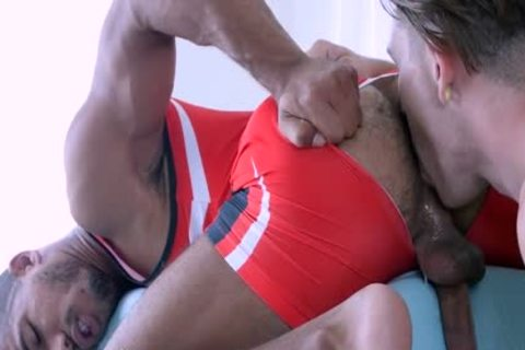 ManRoyale Wrestler Goes For Gold With pumped up Hunk