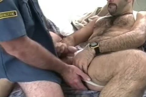 tasty chap Sucks On A hairy arsehole previous to ass poke