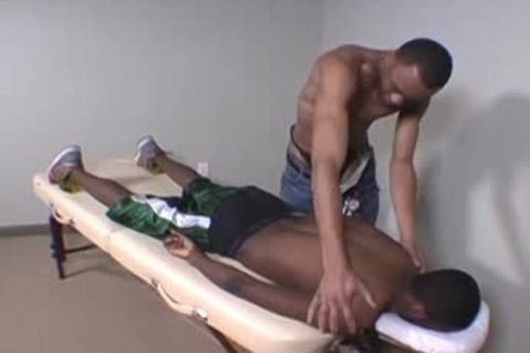 sexy Masseur Massages His Next Client's schlong And wazoo