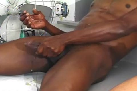 Hung black boy slams A Skinny White dude doggy style