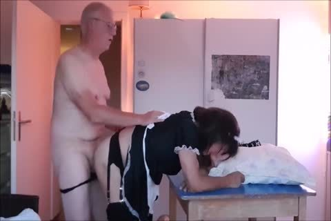 Maid Sissy Cleans house Sucks pecker acquires nailed