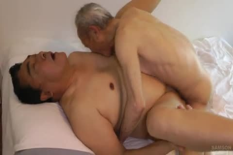 Japanese fat Daddy Sex With biggest dick old man