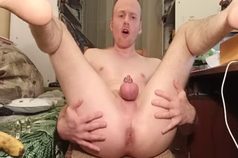 LanaTuls - wazoo pounding And Stretching With Banana And dildo