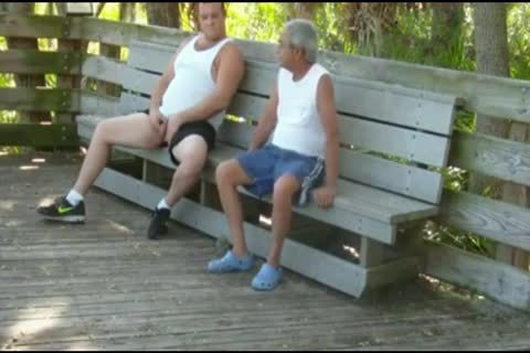 outdoors Scenes Where grand-dad Sucks & acquires pounded By fat