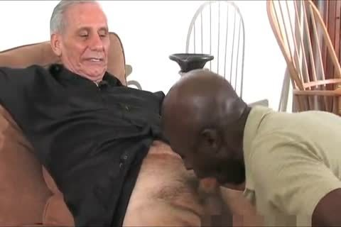 mature black Daddy And Three White old man's, One good Time