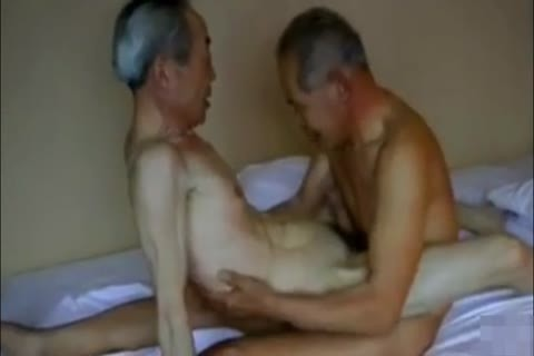 Two slutty And lewd Japanese grandpa's bang And engulf!