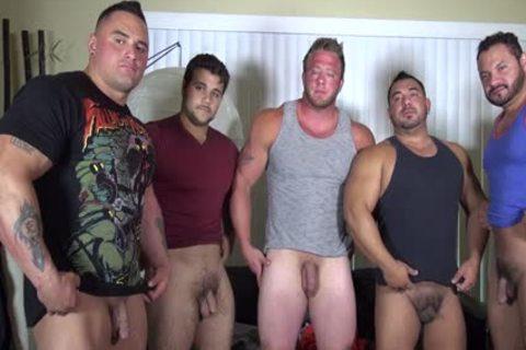 In Nature's Garb Party  LATINO Muscle Bear house - amateur enjoyment W/ Aaron Bruiser