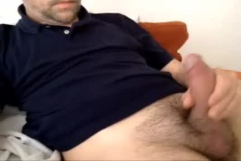 Serbian Married Daddy cum Over His Shirt