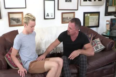 Creepy neighbour Cums Inside A blonde lad