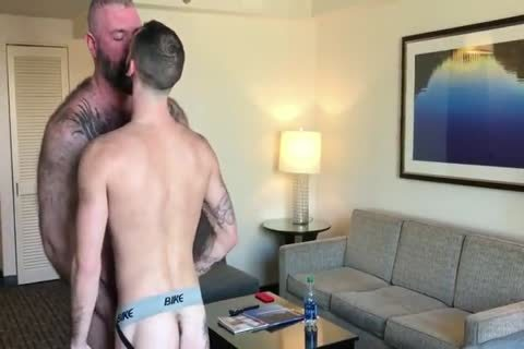 Daddy With stiff Suckable teats poke A young boy