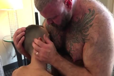 Daddy With stiff Suckable teats pound A young lad