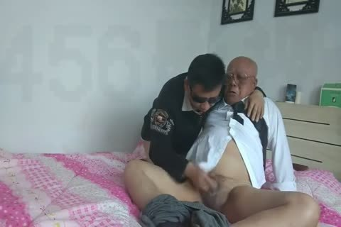 young Chinese Sucks & bangs His old man ally