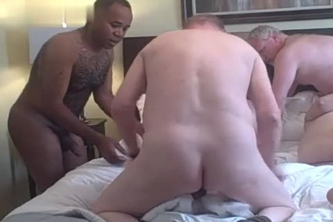 4 old old boys Play In A Hotel Room black Daddy old man