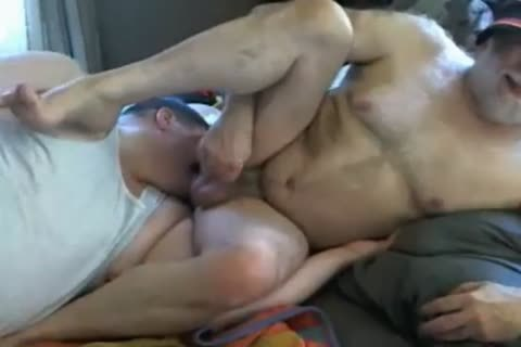 Biguy62 Grey Bearded grand-dad receives Cocksucked And yummy Rimjob