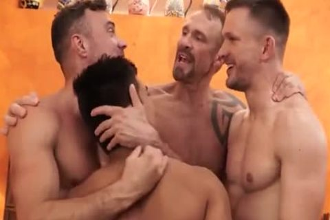 hot 4 homosexuals In hot group bare banging - GayTV