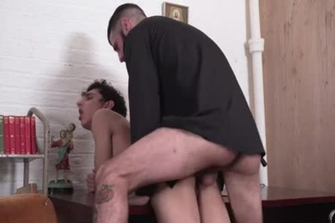 Sinful twink Punished By sleazy Priest