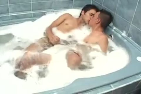 In The Bathtub Straight teens Become homo oral sex stimulation Eatcum And bare nailing