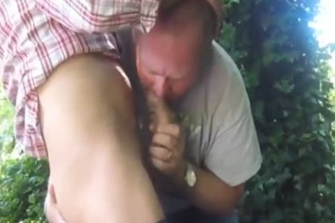 attractive Married daddy Cruising In The Woods
