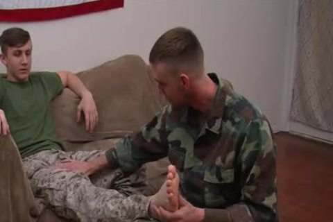 private First Class Jett S First homosexual suck job stimulation
