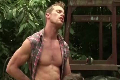 Super delicious twink Takes On Hung daddy man outside