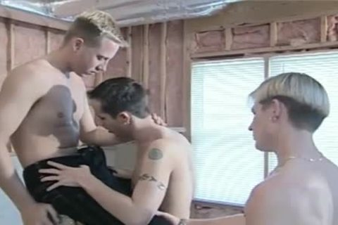 three dudes who engulf a lot of cock